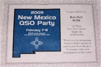 W2IK Wins Plaque from NM QSO Party in 2009